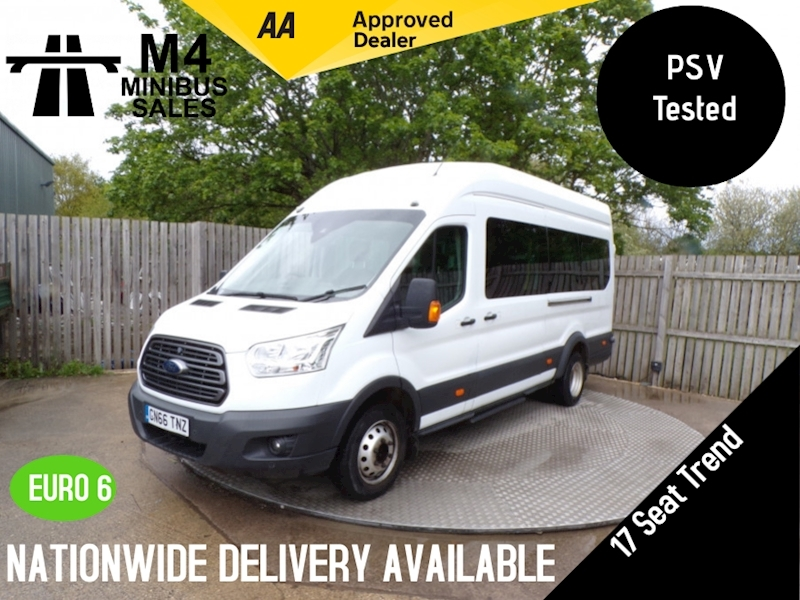 Ford Transit 460 Trend 17 SEATER  WITH TACHO A/C EURO 6 Image 1