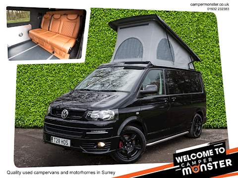 Black Volkswagen Camper Van Conversion - Highline SWB just arrived at Camper Monster