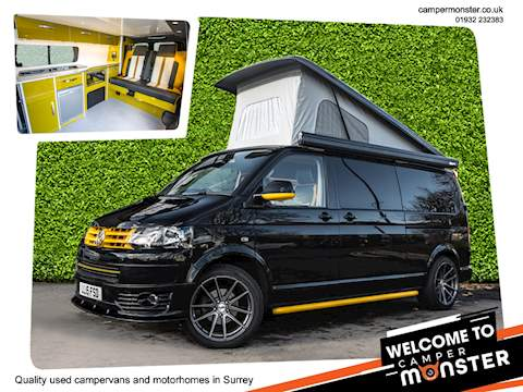 "Volkswagen Transporter 4 BERTH ""RARE"" DSG AUTOMATIC T30 Tdi Highline Campervan POP TOP ROOF"