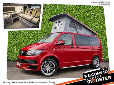 2018 VOLKSWAGEN T6 NEW VAN NEW CONVERSION RIB BED NIGHT HEATER AIRCON 4 BERTH POP TOP 3 YEAR VW WARRANTY !