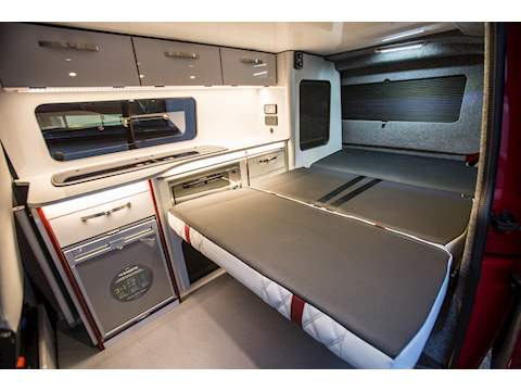 VOLKSWAGEN T6 NEW VAN NEW CONVERSION RIB BED NIGHT HEATER AIRCON 4 BERTH POP TOP 3 YEAR VW WARRANTY !