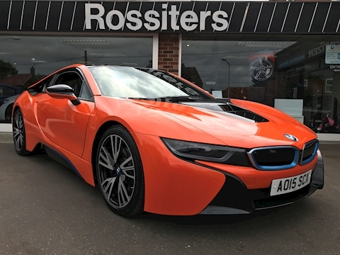 Bmw i8 With AC Schnitzer Rear Wing And Orange Wrap