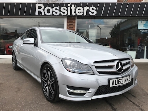 Mercedes C Class C180 Coupe Amg Sport Plus Blueefficiency Automatic ONLY COVERED 1,500 MILES!