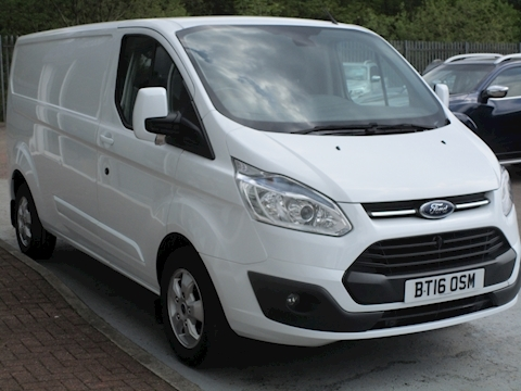 Transit Custom Tdci 125ps 290 Limited L2 Lwb with Air Con & Alloy Wheels 2.2 5dr Panel Van Manual Diesel