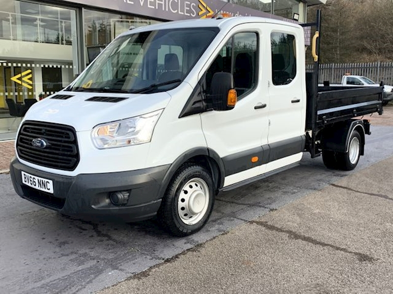 Ford Transit Tdci 125ps 350 L3 9.3ft 2.8m Double Cab Tipper with Twin Rear Wheels & Tow Bar 2.2 4dr Tipper Manual Diesel