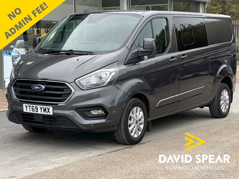 Ford Transit Custom TDCI 185ps Limited L2 Lwb DCIV 6 Seat Kombi Crew with Sat Nav, Leather & Rev Cam 2.0 5dr Combi Van Automatic Diesel