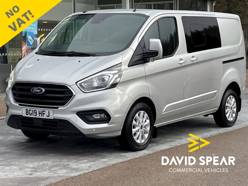 Ford Transit Custom TDCI 130ps Auto Limited L1 SWB 6 Seat Crew Van with NO VAT, Air Con & Alloys 2.0 5dr Combi Van Automatic Diesel