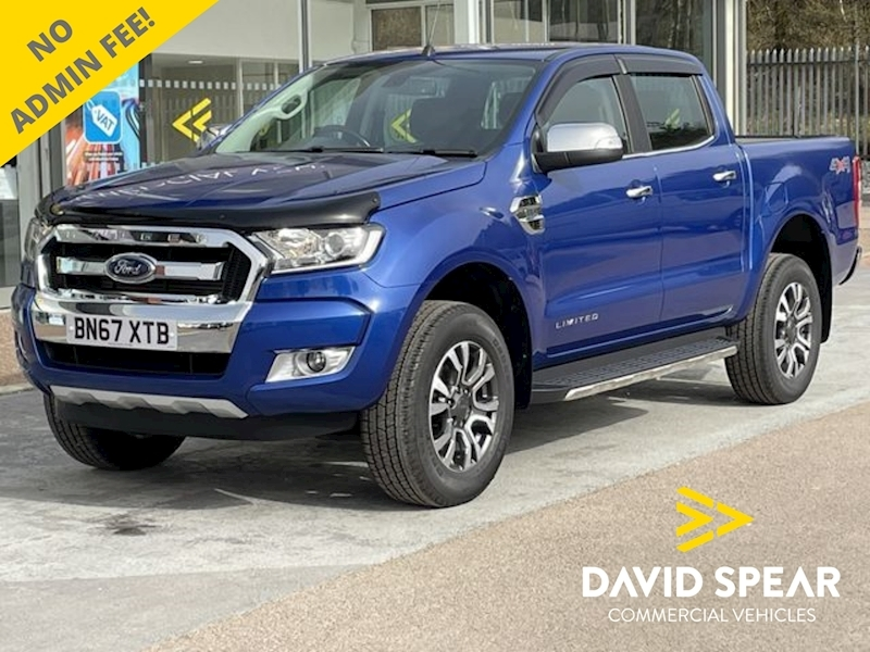 Ford Ranger TDCI Limited Auto 4x4 Dcb Pick Up With Sat Nav, RollnLock, Rev Cam & Leather 2.2 4dr Pickup Automatic Diesel
