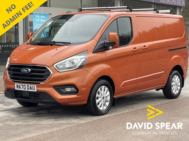 Ford Transit Custom TDCI 130ps 300 Limited Premium L1 H1 SelectShift Auto SWB With Sat Nav, Rev Cam & Air Con 2.0 5dr Panel Van Automatic Diesel