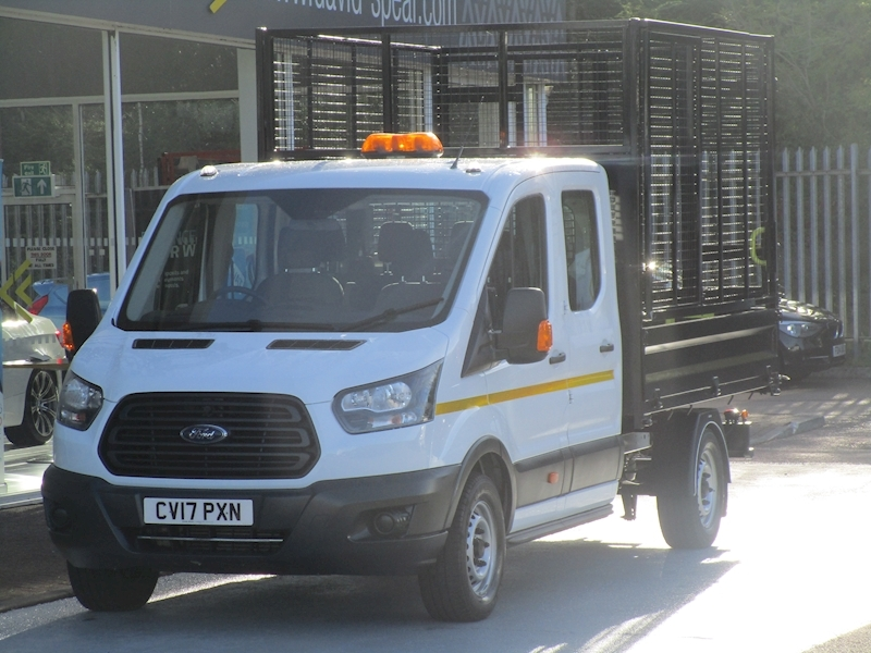 Transit Tdci 130ps 350 Lwb Double Cab Caged Tipper (Removable Cage) 2.0 2dr Tipper Manual Diesel