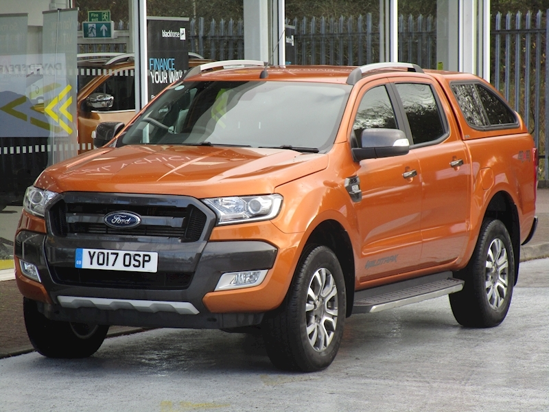 Ranger Tdci 200ps Wildtrak 4x4 Double Cab Auto Pick Up With Sat Nav, Rev Cam & Canopy 3.2 5dr Pickup Automatic Diesel