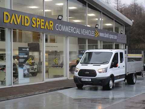 Transit Tdci 130ps 350 Lwb EF 3 Seat Double Cab Dropside with Air Con Tail Lift & Rear Ssecure Storage 2.0 4dr Dropside Manual Diesel
