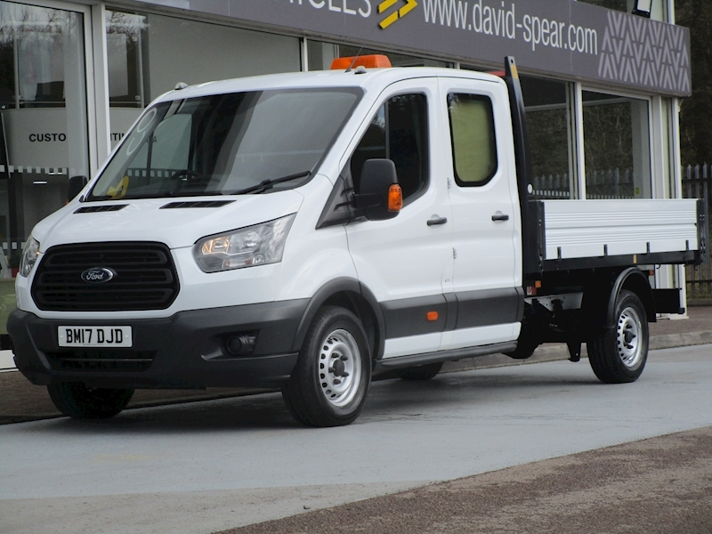 Transit Tdci 130ps 350 3 Seat Double Cab Tipper 1 Stop With Rear Secure Storage 2.0 4dr Tipper Manual Diesel