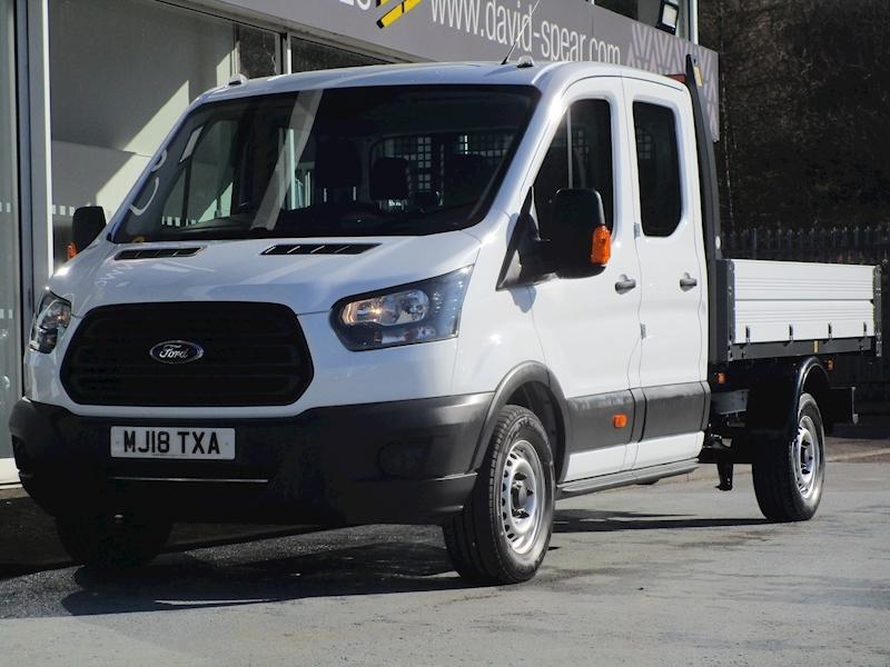 Transit Tdci 130ps 350 7 Seater Lwb Double Crew Cab 1 Stop Tipper With Only 1k 2.0 4dr Tipper Manual Diesel