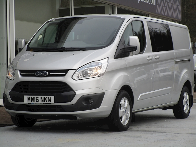 Transit Custom Tdci 125ps 290 Limited L2 Lwb 6 Seat Kombi Crew Van With Air Con & Alloys 2.2 6dr Combi Van Manual Diesel