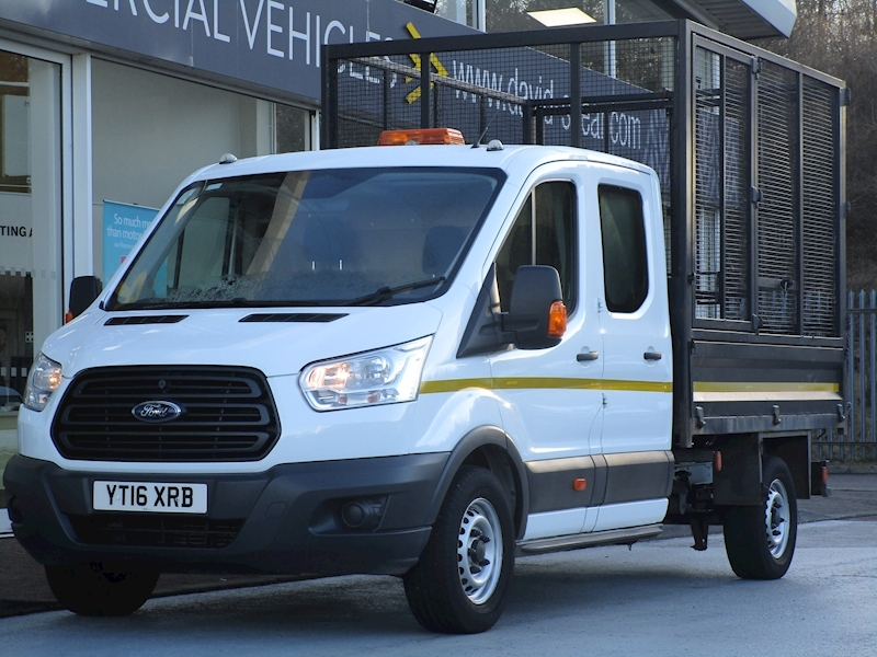 Transit Tdci 125ps 350 Double Cab Tipper With Removable Cage & Rear Secure Storage Area 2.2 4dr Tipper Manual Diesel