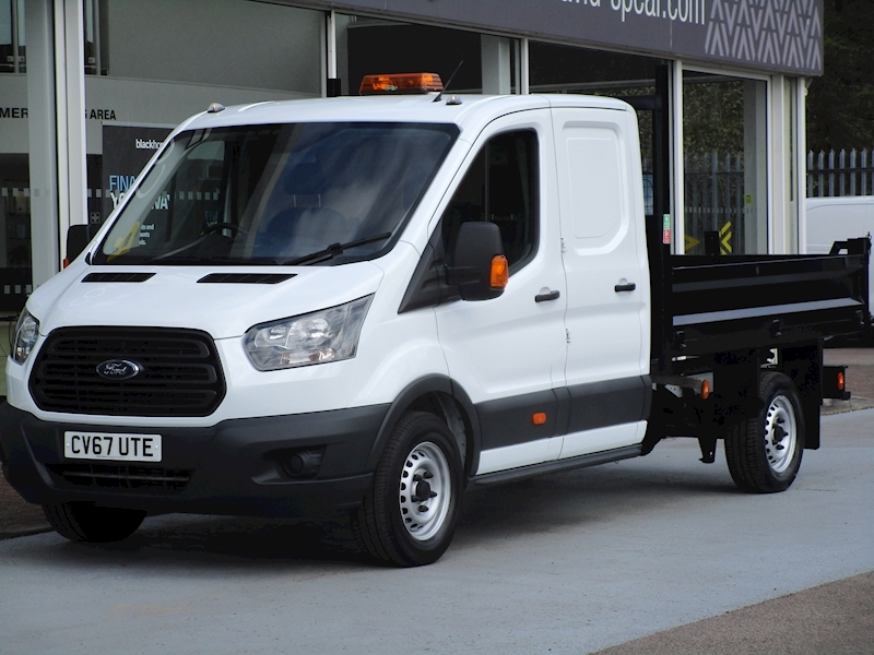 Transit Tdci 130ps 350 Double Crew Cab Tipper with 3 Seats & Rear Secure Storage 2.0 2dr Tipper Manual Diesel