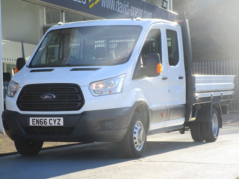 Transit Tdci 125ps 350 L4 10.5ft 7 Seat Double Cab Dropside Pick Up With Twin Rear Wheels & Only 20k 2.2 4dr Dropside Manual Diesel