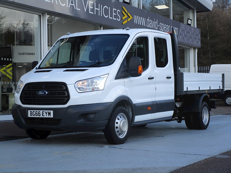 Transit Tdci 125ps 350 L3 7 Seat Double Cab Tipper with Twin Rear Wheels 2.2 4dr Tipper Manual Diesel