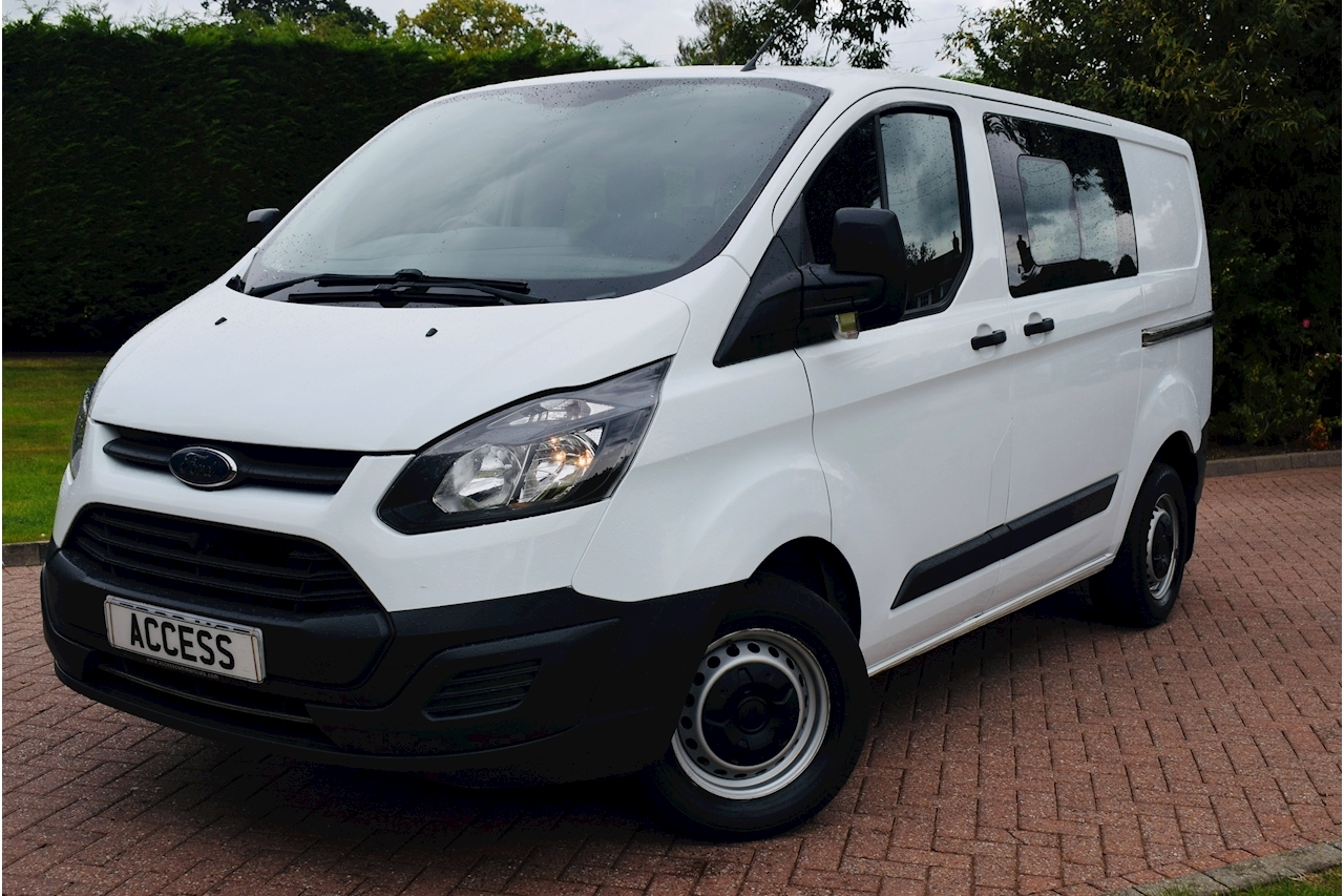 Ford Transit Custom 290 Lr Dcb 2.0 Manual Diesel 6 seater crew van euro 6