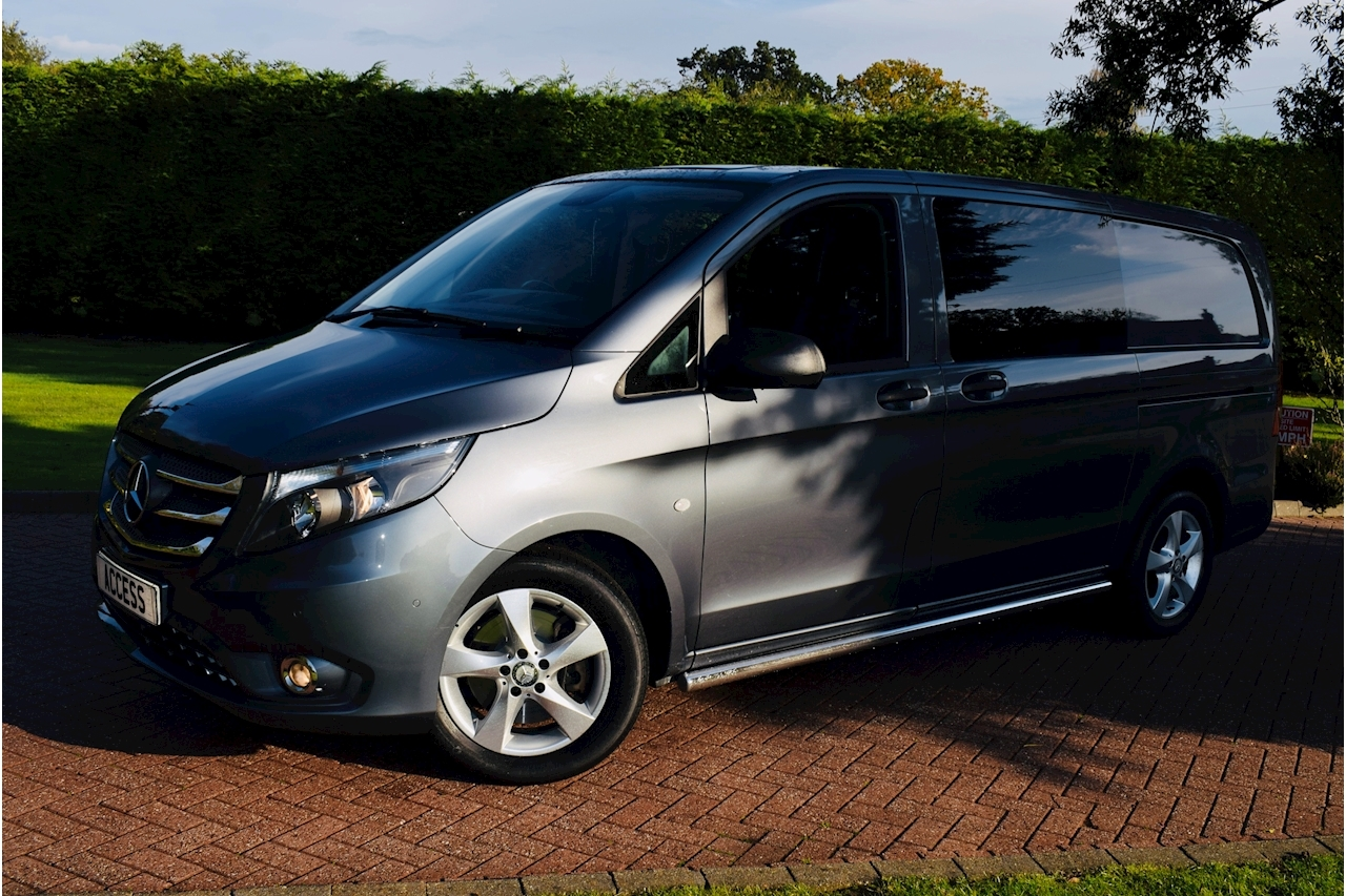 Mercedes-Benz Vito 119 Bluetec Sport Van With Side Windows 2.1 Automatic Diesel 6 seater crew van