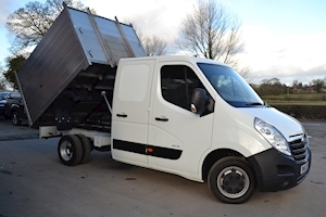 Vauxhall Movano R3500 Crew Cab 125ps Double Rear Wheel 2.3Cdti L3 H1 Alloy Arb Tipper