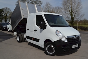 Vauxhall Movano R3500 Crew Cab 125ps Double Rear Wheel 2.3Cdti L3 H1 3.5 Tonne Alloy Arb Tipper