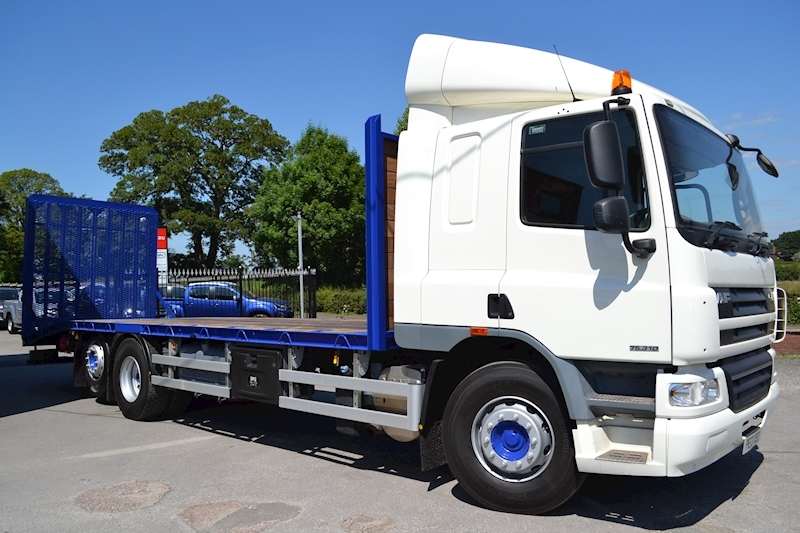 DAF Cf CF 75.310 FAR 6x2 Rear Lift 29ft Beavertail Plant Sleeper Cab 9.2 Beavertail Manual Diesel White
