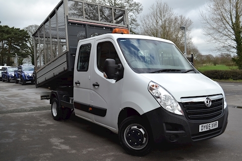 Vauxhall Movano R3500 L3h1 125 Cdti Crew Cab Twin Wheel Cage Tipper