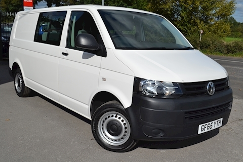 Volkswagen Transporter T32 Tdi Kombi LWB 102ps Startline 6 Seater Side Windows Tailgate No Vat