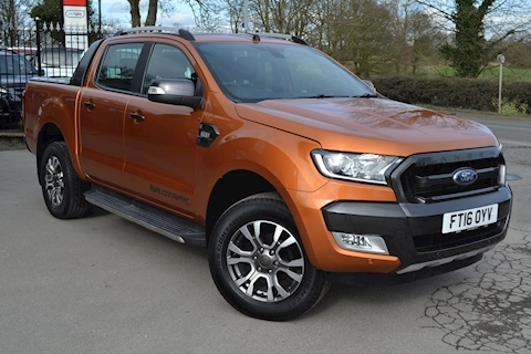 Ford Ranger Wildtrak 200ps 4x4 Tdci Double Cab 4x4 Pick Up Fitted Roller Shutter