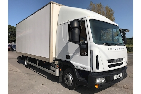 Iveco Eurocargo 75E16S Euro 6 Sleeper Cab 7.5 Tonne Box Van Fitted Full Closure 2200kg Tail Lift